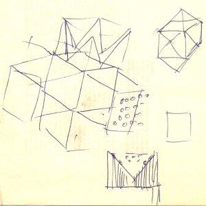 Boceto para Cruz de San Andrés o Desarrollo del cubo
