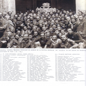 Promociones de Bellas Artes 1939-41. Sempere es el nº 49