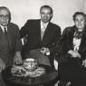 Fotografía de Eusebio y padres en Onil, 1950