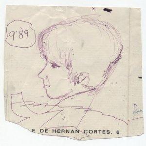 Retrato improvisado en una sombremesa, 1969