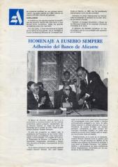 Homenaje Banco de Alicante
