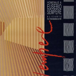 Homenaje a Eusebio Sempere de Alicante