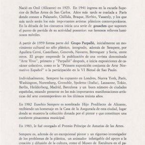 Exposición Homenaje Ayuntamiento Onil