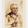 Hombre con vaso de vino, 1947