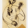 Mujer con mandolina, ca. 1949