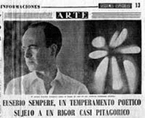 Newspaper piece sent by his family. Diario de Informaciones, 22nd October. 1963.