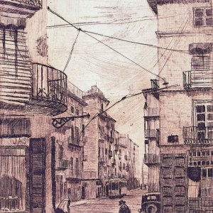 Calle de la Bolsería, 1946