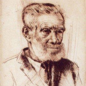 Hombre con barba, 1947