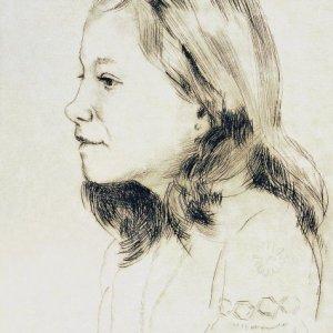Retrato hija de Antonio Pina, 1980