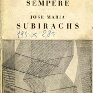 Programa de mano de la Exposición en la Berta Schaefer Gallery de Nueva York. 1964.